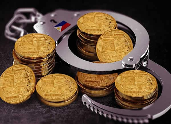 Bitcoin with handcuffs