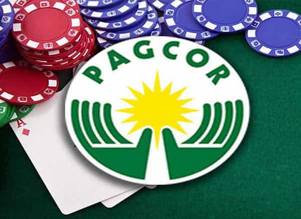 Pagcor logo and poker chips