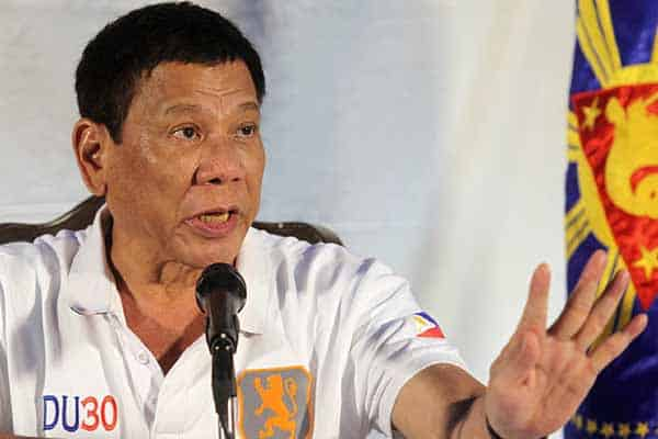 PH President reacts to questioning.