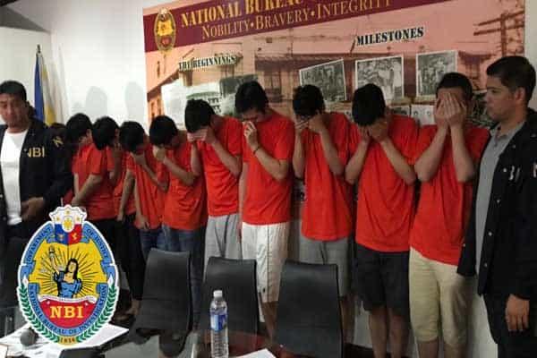 NBI making arrests