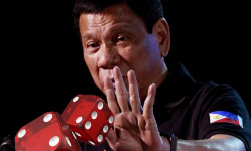PH President tossing dice